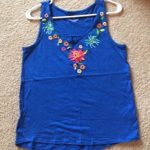 Sonoma embroidered tank top